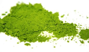 Instant green tea powder